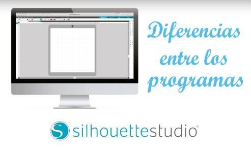 DIFERENCIAS ENTRE LOS PROGRAMAS SILHOUETTE STUDIO