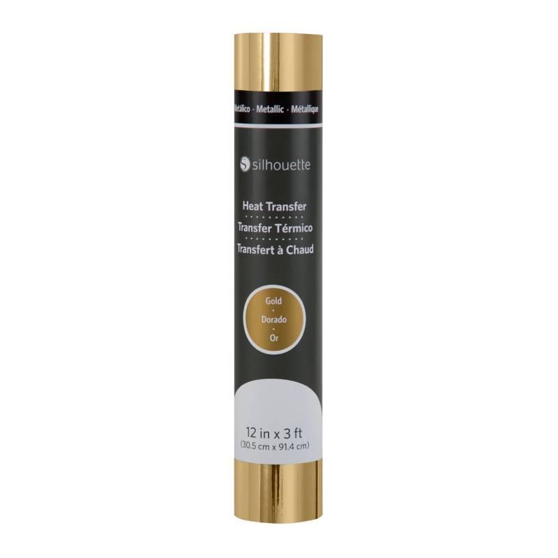 Vinilo Termotransferible Metallico 30,5cm X 0,90m Dorado