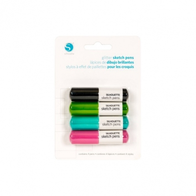 Pack De 4 Lapiceras Glitter Silhouete